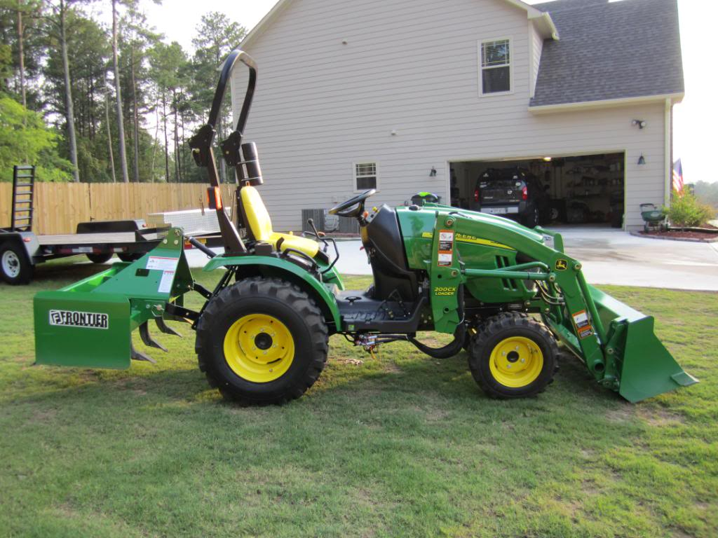 john deere 2320 compact utility tractor with attachments. Black Bedroom Furniture Sets. Home Design Ideas