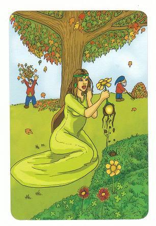 Today's Card - 0 The Fool,  A King's Journey Tarot 11PrincessofCoins-AKingsJourneyTarot_0005