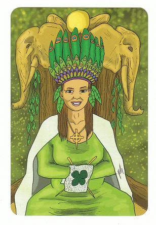Today's Card - 0 The Fool,  A King's Journey Tarot 13QueenofCoins-Pentacles-AKingsJourneyTarot_0005