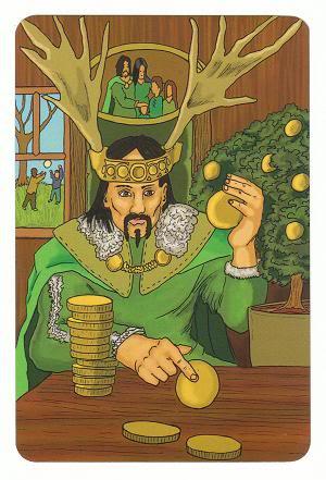 Today's Card - 0 The Fool,  A King's Journey Tarot 14KingofCoins-Pentacles-AKingsJourneyTarot_0005