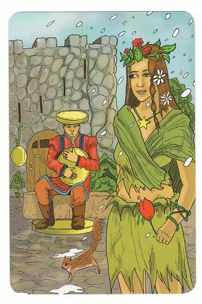 Today's Card - 0 The Fool,  A King's Journey Tarot 4ofCoins-Pentacles-AKingsJourneyTarot_0005