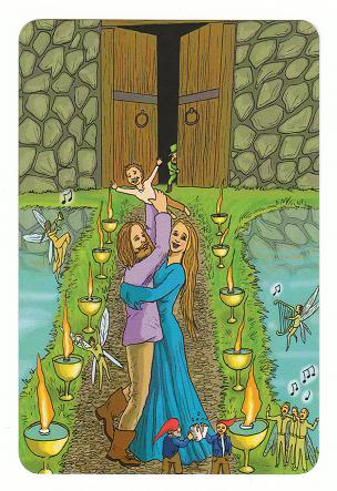 Today's Card - 0 The Fool,  A King's Journey Tarot 10ofCups-AKingsJourneyTarot_0005