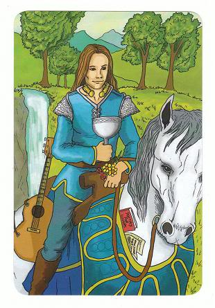 Today's Card - 0 The Fool,  A King's Journey Tarot 12KnightofCups-AKingsJourneyTarot_0005