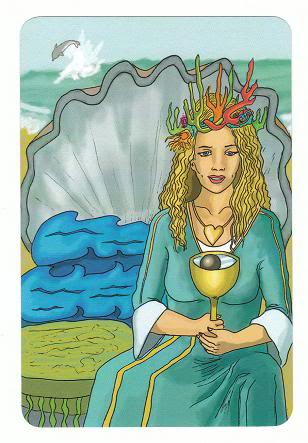 Today's Card - 0 The Fool,  A King's Journey Tarot 13QueenofCups-AKingsJourneyTarot_0005
