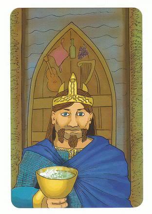 Today's Card - 0 The Fool,  A King's Journey Tarot 14KingofCups-AKingsJourneyTarot_0005