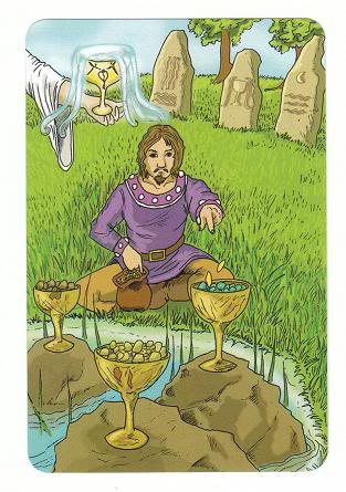 Today's Card - 0 The Fool,  A King's Journey Tarot 4ofCups-AKingsJourneyTarot_0005