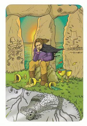 Today's Card - 0 The Fool,  A King's Journey Tarot 5ofCups-AKingsJourneyTarot_0005