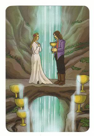 Today's Card - 0 The Fool,  A King's Journey Tarot 6ofCups-AKingsJourneyTarot_0005