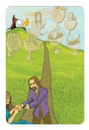Today's Card - 0 The Fool,  A King's Journey Tarot 7ofCups-AKingsJourneyTarot_0005