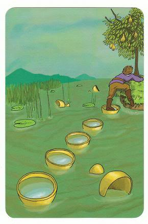 Today's Card - 0 The Fool,  A King's Journey Tarot 8ofCups-AKingsJourneyTarot_0005