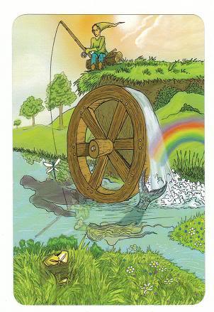 Today's Card - 0 The Fool,  A King's Journey Tarot 10TheWheelofFortune-AKingsJourneyTarot_0005