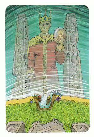 Today's Card - 0 The Fool,  A King's Journey Tarot 11Justice-AKingsJourneyTarot_0005
