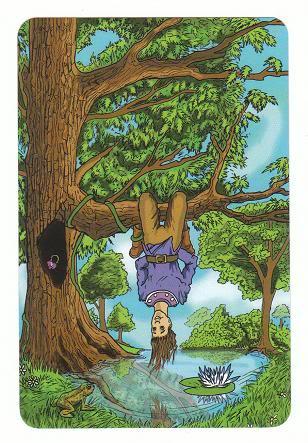 Today's Card - 0 The Fool,  A King's Journey Tarot 12TheHangedMan-AKingsJourneyTarot_0005