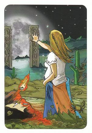 Today's Card - 0 The Fool,  A King's Journey Tarot 18TheMoon-AKingsJourneyTarot_0005