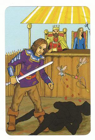 Today's Card - 0 The Fool,  A King's Journey Tarot - Page 2 6TheLovers-AKingsJourneyTarot_0005