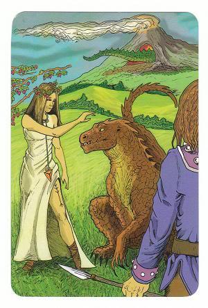 Today's Card - 0 The Fool,  A King's Journey Tarot 8Strength-AKingsJourneyTarot_0005