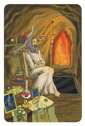 Today's Card - 0 The Fool,  A King's Journey Tarot 9TheHermit-AKingsJourneyTarot_0004