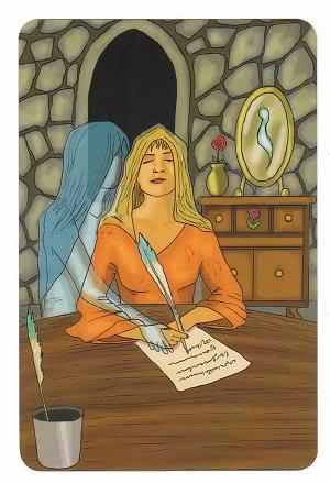 Today's Card - 0 The Fool,  A King's Journey Tarot 11Princess-PageofSpirit-AKingsJourneyTarot_0005