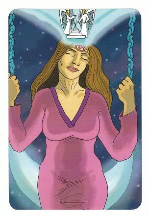 Today's Card - 0 The Fool,  A King's Journey Tarot 13QueenofSpirit-AKingsJourneyTarot_0005