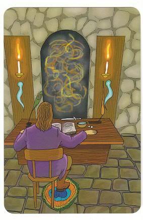 Today's Card - 0 The Fool,  A King's Journey Tarot 2ofSpirit-AKingsJourneyTarot_0005