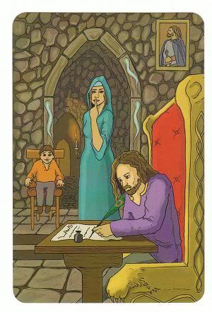 Today's Card - 0 The Fool,  A King's Journey Tarot 3ofSpirit-AKingsJourneyTarot_0005