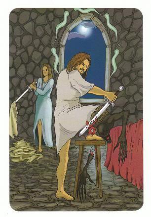 Today's Card - 0 The Fool,  A King's Journey Tarot 5ofSpirit-AKingsJourneyTarot_0005
