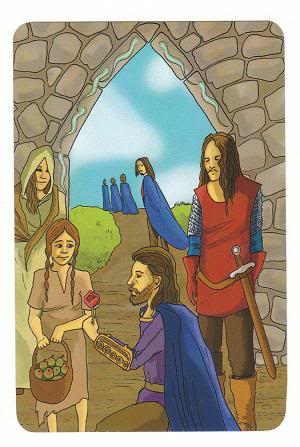 Today's Card - 0 The Fool,  A King's Journey Tarot 6ofSpirit-AKingsJourneyTarot_0005