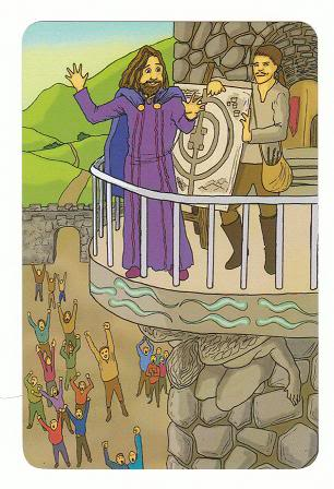 Today's Card - 0 The Fool,  A King's Journey Tarot 7ofSpirit-AKingsJourneyTarot_0005