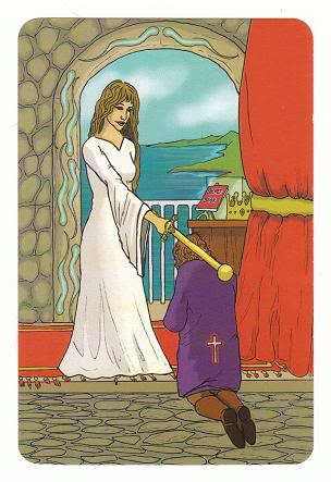 Today's Card - 0 The Fool,  A King's Journey Tarot 8ofSpirit-AKingsJourneyTarot_0005