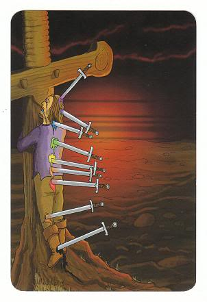 Today's Card - 0 The Fool,  A King's Journey Tarot 10ofSwords-AKingsJourneyTarot_0005