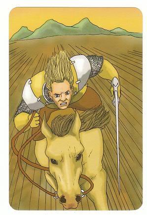 Today's Card - 0 The Fool,  A King's Journey Tarot 12KnightofSwords-AKingsJourneyTarot_0005