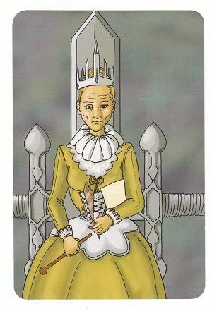 Today's Card - 0 The Fool,  A King's Journey Tarot 13QueenofSwords-AKingsJourneyTarot_0005