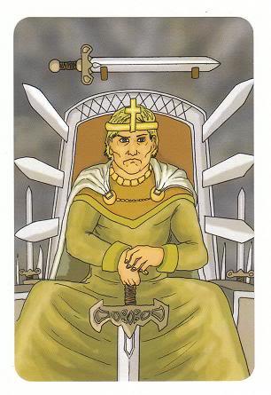 Today's Card - 0 The Fool,  A King's Journey Tarot 14KingofSwords-AKingsJourneyTarot_0005