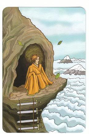 Today's Card - 0 The Fool,  A King's Journey Tarot 4ofSwords-AKingsJourneyTarot_0005