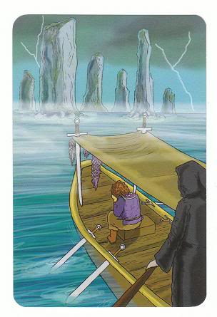 Today's Card - 0 The Fool,  A King's Journey Tarot 6ofSwords-AKingsJourneyTarot_0005