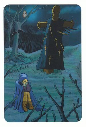 Today's Card - 0 The Fool,  A King's Journey Tarot 9ofSwords-AKingsJourneyTarot_0005