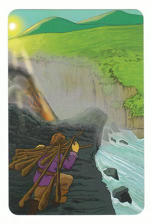 Today's Card - 0 The Fool,  A King's Journey Tarot 10ofWands-AKingsJourneyTarot_0005