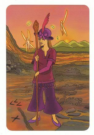 Today's Card - 0 The Fool,  A King's Journey Tarot 11Princess-PageofWands-AKingsJourneyTarot_0005