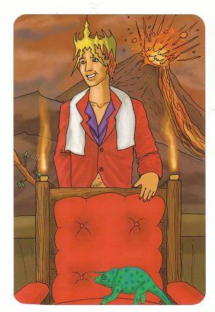 Today's Card - 0 The Fool,  A King's Journey Tarot 14KingofWands-AKingsJourneyTarot_0005