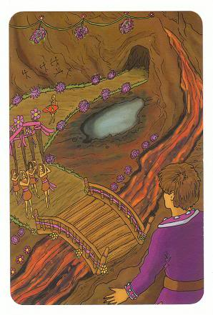 Today's Card - 0 The Fool,  A King's Journey Tarot 4ofWands-AKingsJourneyTarot_0005