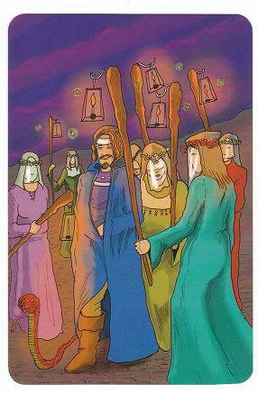 Today's Card - 0 The Fool,  A King's Journey Tarot 6ofWands-AKingsJourneyTarot_0005