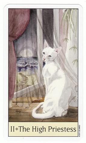 II/2 The High Priestess - Cat's Eye Tarot 2TheHighPriestess-CatsEyeTarot_0004