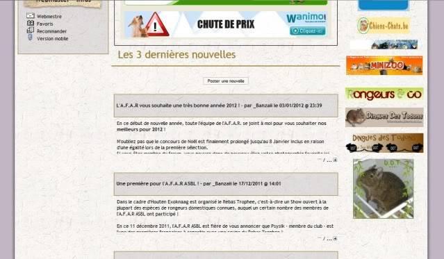 """""""Association Francophone des Amateur de Rongeurs """"AFAR"""""""", le fil de _Banzaii. Partenaires"""
