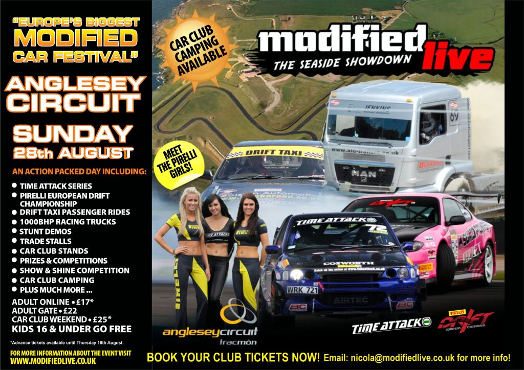 Modified Live @ Anglesey Circuit - Sunday 28th August 2011 ANGLESEYFLYER