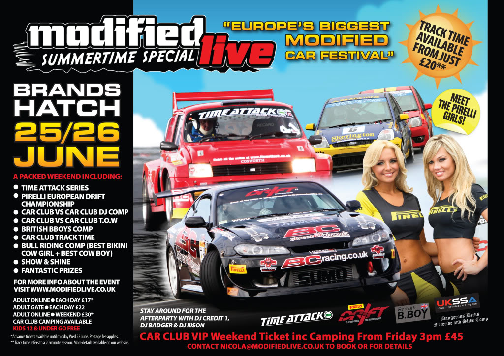 Modified Live - Summertime Special - Sat 25th & Sun 26th June, Brands Hatch, Kent BRANDSHATCHCLUBFLYER-1