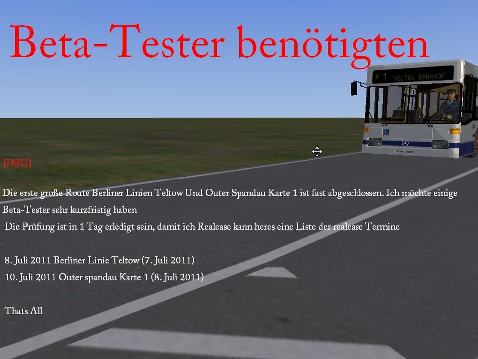 [Revised again for the last time] Berliner Lines. Deadline untill 19th july 2011 Beta-Testerbentigten