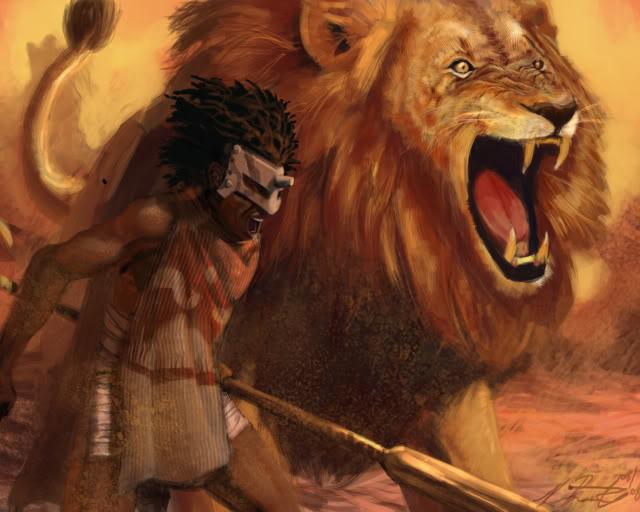 Tipos de Aventureiros 640x512_1720_Lion_s_Roar_2d_fantasy_lion_warrior_african_roar_picture_image_digital_art