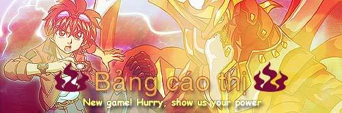 [Game Event] Hurry ! Show us your power !! {ĐÃ TỔNG KẾT  KÌ 6} Bangcaothi