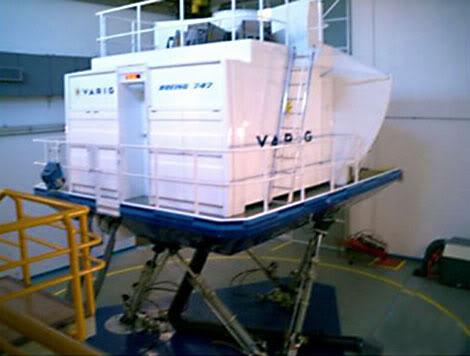 Simulador de voo completo. Simulador
