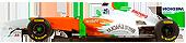 Sorteo de monoplazas prueba de rendimiento.. Forceindia